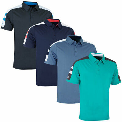 Callaway Golf Mens Contrast Shoulder Block Opti-Dri Polo Shirt 43% OFF RRP