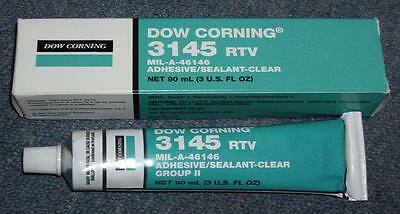 Dow Corning RTV-3145 Silicone Adhesive - 3 oz Tube (CLEAR Material)
