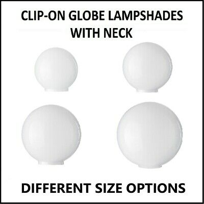 White Glass Ball Lampshades. 9 sizes (light replacement round sphere globe)