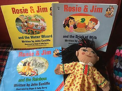 Rosie And Jim Toy - ROSIE Canal Boat Barge Narrowboat Rag Doll + 3 Books