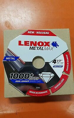 "Lenox Tools 1972921 METALMAX Diamond Edge Cutoff Wheel, 4.5"" x 7/8"""