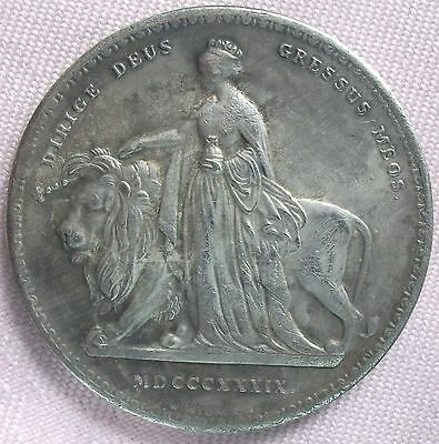 "1839 ""Una & Lion"" Crown, Copy, (FREE UK POSTAGE AVAILABLE)"