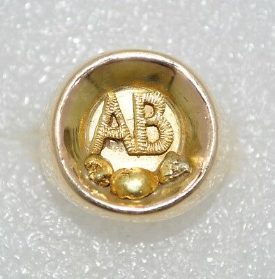 Very Rare Vintage 9ct Gold Arctic Brotherhood Ring - Size M  Hallmarked- 10.54g