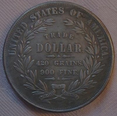 1872 USA Trade Dollar copy, (FREE UK POSTAGE AVAILABLE)