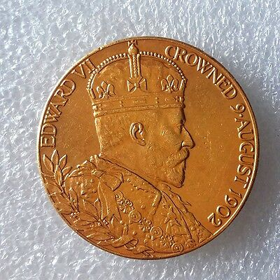 1902 Coronation Medal copy, (FREE UK POSTAGE AVAILABLE)