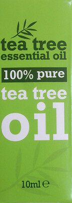 2 x 100 % Pure Tea Tree Essential Oil 10ml Antiseptic, Anti Fungal