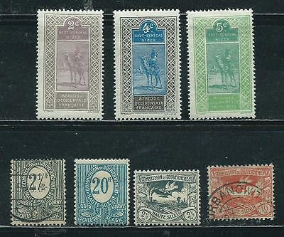 Upper Senegal-Niger & Upper Silesia - 7 old stamps mixed....Years 1914 to 1920
