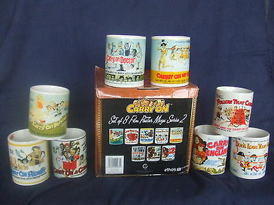 Carry On - Set of 8 Film Poster Mugs Series 2 - Doctor, Convenience, Henry etc