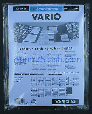 Lighthouse Vario Stock Sheets Type 6S  - 5 Pack New - StampSupplyStore