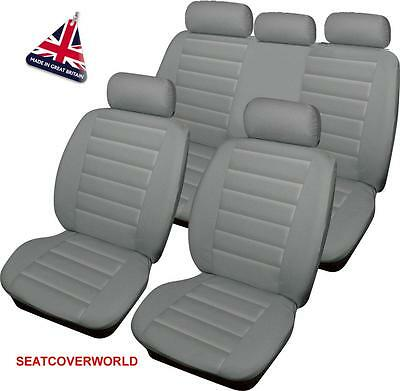 MERCEDES GREY LEATHER LOOK CAR SEAT COVERS FULL SET A B C Class CL CLA