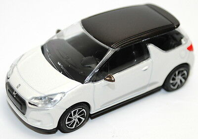 Citroen DS DS3 2016 Model Car White Bronze Roof New and Genuine AMC019593