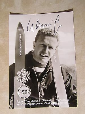 OLYMPIC skier HANS PETER LANIG autographed 4x6 post card