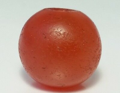 14.2mm ANCIENT RARE INDO-TIBETAN BANDED CARNELIAN / AGATE BEAD