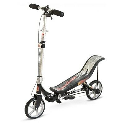 Space Scooter X580 matt schwarz Fun Wipp Roller ab 8 Jahre Scooter Cityroller
