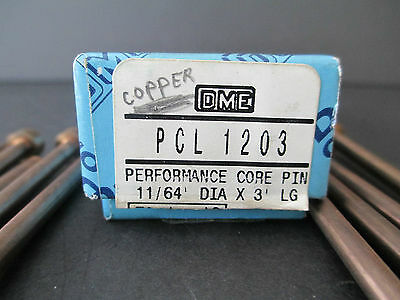 "9--- DME PCL 1203 (3"" lg) (High Performance) Core pins -copper"