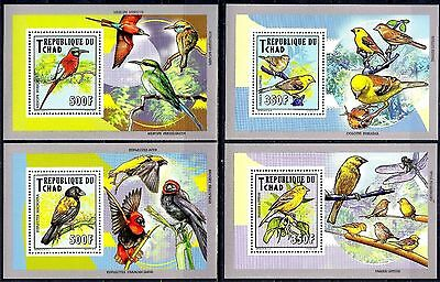 Chad/Tchad  2012 Birds Golden Sparrow/Swallow-tailed bee-eater/Red bishop MNH