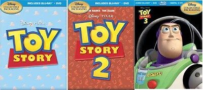 Toy Story 1 2 3 Trilogy SteelBook Combo [Blu-ray + DVD, Region A, IronPack] NEW