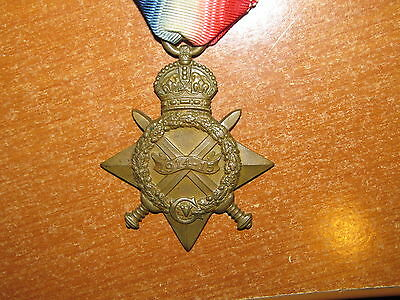 WW1 British 1914-15 Star Medal named 1st Battalion 19th Punjabis nice