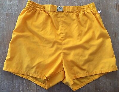 vintage JANTZEN Yellow Swim trunks 1950s 1960s