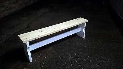 5ft Shabby Chic Bench rustic style kitchen hallway conservatory porch