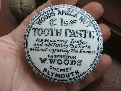 Woods Plymouth 1S Areca Nut Tooth Paste Pot Lid