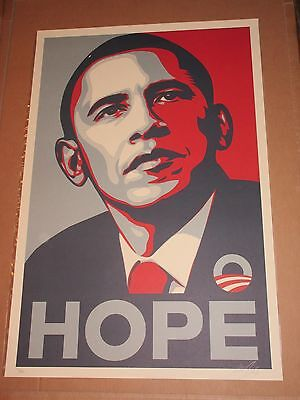 Shepard Fairey Obama HOPE Print Poster 411/600 Real authentic Obey Giant