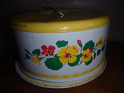 Decoware Metal Pie Cake Plate Cover Carrier Flowers/Pansy
