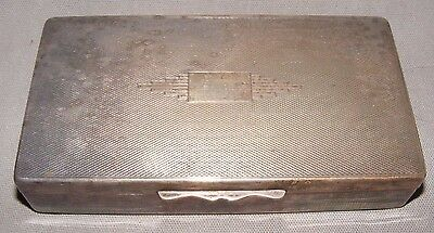 Vintage Art Deco Epns Silver Plated Cigarette Box By Aristocrat English Made
