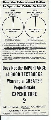 J-217 - American Book Company, Textbook Publsh Advertising Ink Blotter 1920s-50s