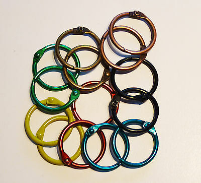 Metal Binding Rings 25mm in 7 Colours & Nickel, can be used with Tolsby frames