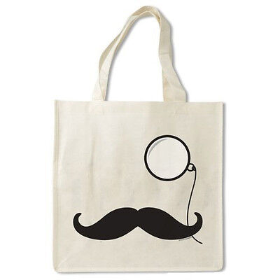 Mustache And Monocle Reusable Bag Eco Friendly Shopping Tote