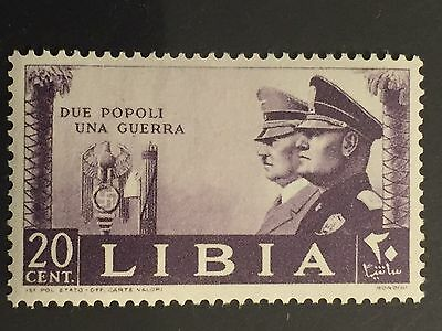 "ITaly LIBYA 1941 From ""WW II-HITLER AND MUSSOLINI""  Sassone 173 $14  MNH"