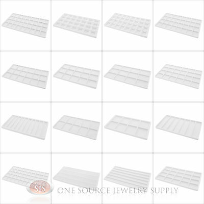 (1) White Compartment Organizer Display Inserts For Jewelry Cases and Trays