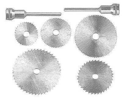 7PC Rotary Tool Saw Blades Works With Dremel Fordom Hobby Cutting Precision