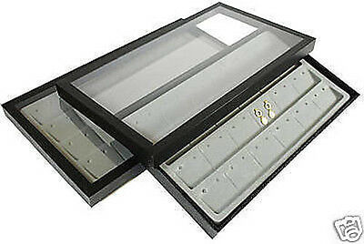 48 Pair Earring Acrylic Lid Jewelry Display Case Tray