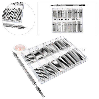 Jumbo Watch Pin Set 100 Pieces w/ Steel Spring Bar & Link Pin Remover Tool
