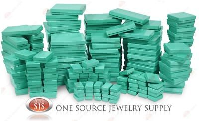 Teal Blue Cotton Filled Gift Boxes Jewelry Cardboard Box Lots of 12~25~50~100
