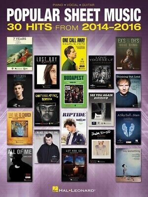 POPULAR SHEET MUSIC - 30 Hits From 2014-2016 Piano PVG Book *NEW* Songs