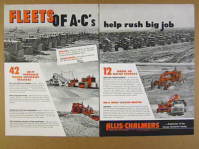 1949 Allis-Chalmers Tractors & Graders at Garrison Dam Project photo vintage Ad