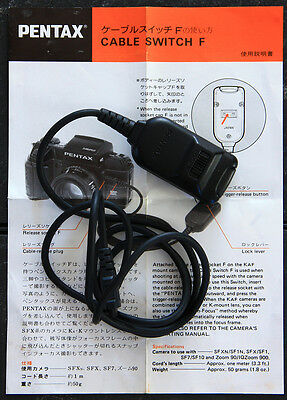 Pentax Cable Switch F remote shutter release for PZ SF MZ ZX 645 645N
