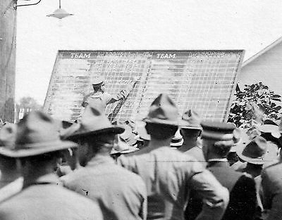 WW1 WWI US soldiers in camp - scoreboard for sports day ?