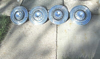 "Vintage 1957 Chrysler New Yorker 14"" Hubcap Hub Cap Set Of 4 Very Good Condition"