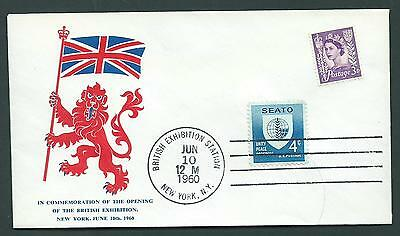 Great Britain & USA-3 Event Covers-British Exhibition, New York, June 10th,1960