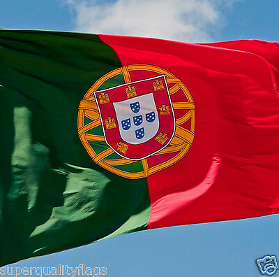 PORTUGAL PORTUGESE FLAG NEW 3x5 ft WITH BRASS GROMMETS