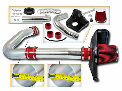 BCP RED 11-16 Charger/Challenger/300 3.6 V6 Heat Shield Cold Air Intake +Filter