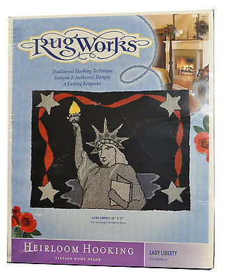 NEW Lady Liberty Statue New York City NY Rug Works Heirloom Hooking Vintage Kit