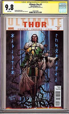 Ultimate Thor #2 CGC 9.8 SS Loki Actor Tom Hiddleston! Avengers/Thor