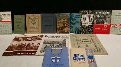 VINTAGE BOYSCOUT OF AMERICA 30s 40s LOT OF 15 BOOKS / MANUALS.