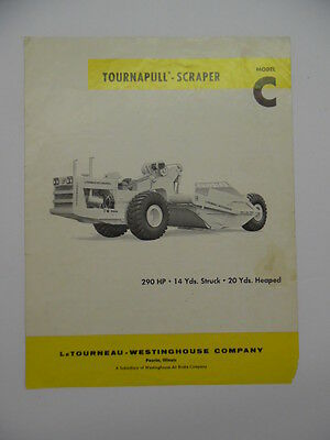 1962 Model C TOURNAPULL SCRAPPER Catalog Brochure Westinghouse Vintage Original