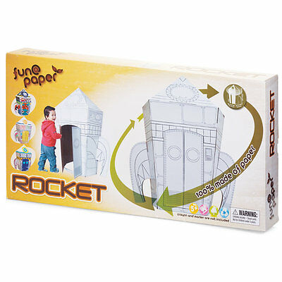 Tobar Colour Your Own Cardboard Rocket Playset 114cm Assembled Paper Size Age 5+